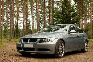 English: BMW E90 near Fatijärvi.