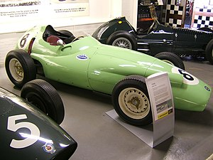 British Racing Partnership - The BRP BRM P25 which Stirling Moss drove to second place in the 1959 British Grand Prix, BRP's best result.
