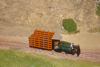 On30 gauge - A Rail Truck  based on the Bachmann Industries model.