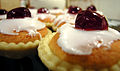Bakewell tarts topped with cherries.jpg