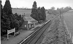 English: Ballingham Station, near to Carey, He...