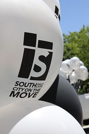 South Salt Lake, Utah - Balloons with the South Salt Lake City Logo and Motto
