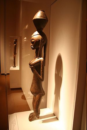 Bambara people - Bambara Female figure, Mali Late 19th to early 20th century. Wood. African Art Museum, Smithsonian.