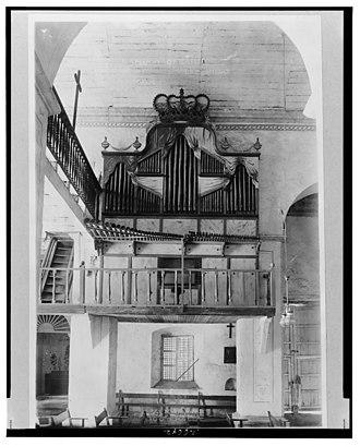 Bamboo Organ - The bamboo organ, circa 1890