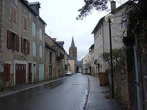 Banassac - A road in the centre of the commune