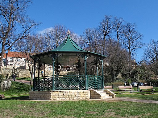 Bandstand by the river in Wetherby (geograph 5232346)