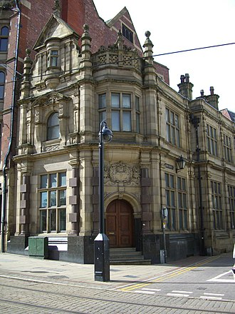 High Street (Sheffield) - The former London and Midland Banking Company building on the corner with York Street.