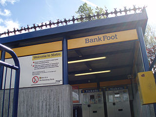 Bank Foot Metro station Station of the Tyne and Wear Metro