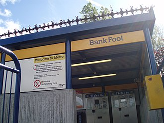 Bank Foot Metro station - Image: Bank Foot Metro Station