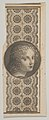 Banknote motif with a girl's head derived from Leonardo da Vinci against a patterned band MET DP837949.jpg