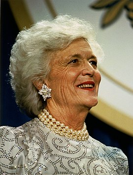 Barbara Bush photo from Wikipedia