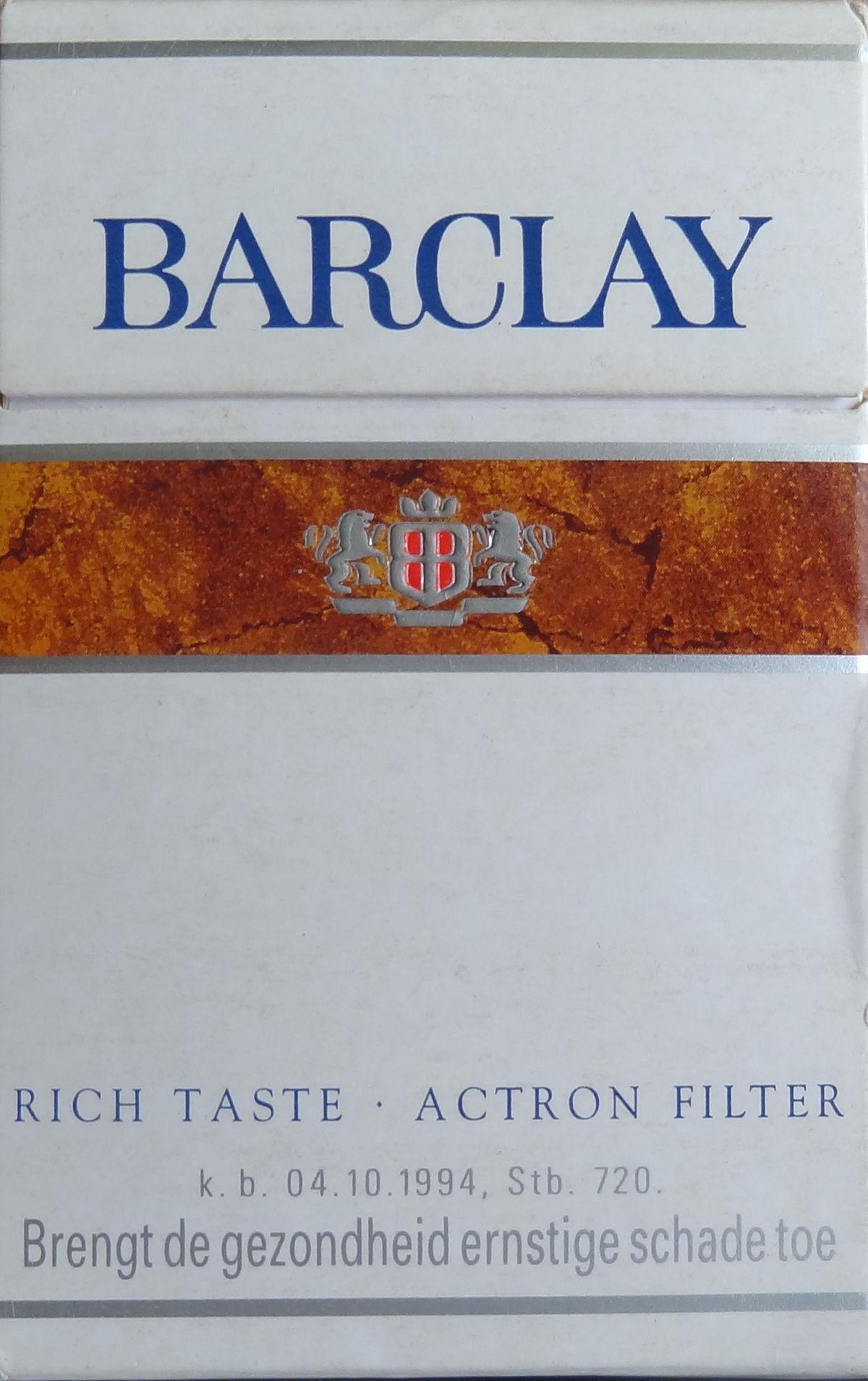 Barclay cigarette wikipedia for The barclay