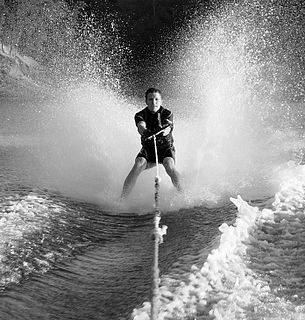 Barefoot skiing A variant of water skiing where water skis are not used
