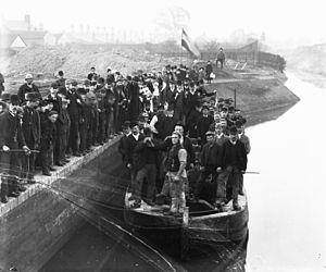 River Lark - Barges on the River Lark, c. 1910