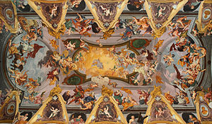 Illusionistic ceiling painting - The ceiling in Ljubljana Cathedral, painted by Giulio Quaglio the Younger in 1705–06