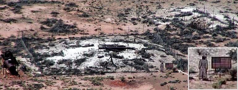 Barringer Crater bottom crop inset