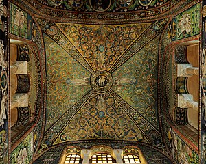 Basilica of San Vitale - Ceiling mosaic above the presbytery