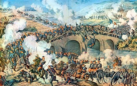 Romanian War of Independence Battle at river Skit 1877.jpg