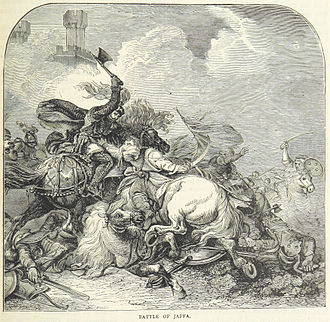 Battle of Jaffa (1192) - A Victorian illustration of Richard I at the battle