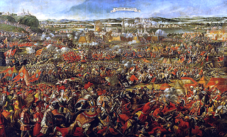 battle near Vienna on 12 September 1683, between the Habsburgs and the Ottomans