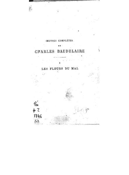 File:Baudelaire Les Fleurs du Mal.djvu