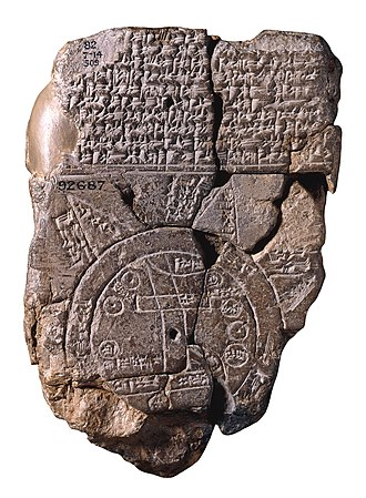 Early world maps - Imago Mundi Babylonian map, the oldest known world map, 6th century BCE Babylonia.