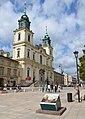 Bazylika Świętego Krzyża w Warszawie od strony Krakowskiego Przedmieścia.JPG