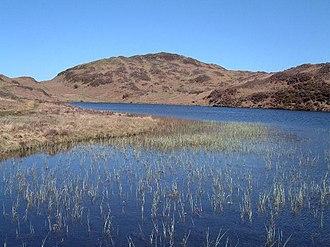 The Outlying Fells of Lakeland - Beacon Fell, looking across Beacon Tarn.
