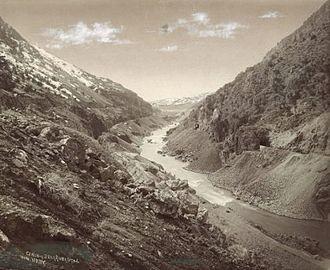 Bear River (Great Salt Lake) - Bear River Canyon in Utah c. 1869