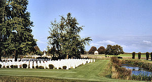 Bedford House Commonwealth War Graves Commission Cemetery - Bedford House plots, seen from the main road