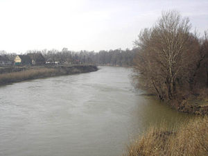 Bega (Tisza) - Image: Begej river near Ečka, Serbia