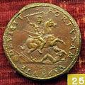 Benvenuto cellini, medaglia di francesco I di francia, verso con guerriero che colpisce la fortuna.JPG