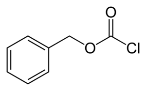 Benzyl chloroformate - Image: Benzyl chloroformate 2D skeletal