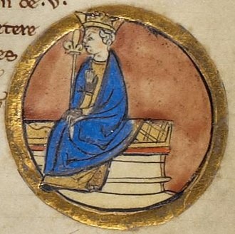 Beorhtric of Wessex - Depiction of Beorhtric from the Genealogical Chronicle of the English Kings, a late 13th-century manuscript in the British Library