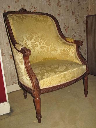Cabriolet (furniture) - Image: Bergere Louis XVI