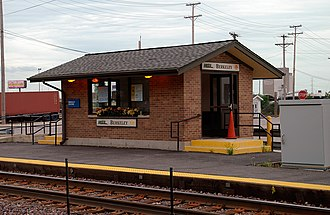 Berkeley station (Illinois) - The Berkeley station prior to reconstruction