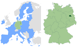 Location within European Union an Germany