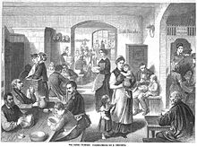 Eine Berliner Volksküche 1868. Grafik Von H. Scherenberg.