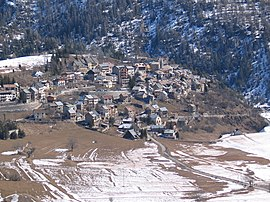 A general view of the village, from above