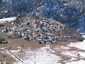 Beuil - A general view of the village, from above