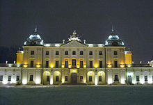 Branicki Palace at night