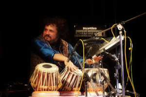 Bickram Ghosh - Ghosh performing fusion music during 2nd Guwahati International Music Festival.
