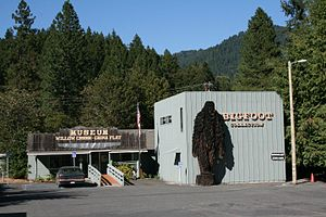 "Patterson–Gimlin film - The ""Bigfoot Museum"" in Willow Creek, California"