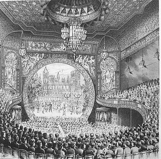 Bijou Theatre (Boston) - Bijou interior, 19th century