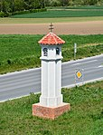 Wayside shrine white cross