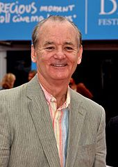 Photograph of Bill Murray who is looking directly at the camera.