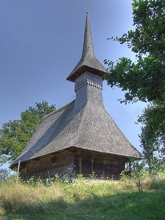 Ulmeni, Maramureș - Image: Biserica de lemn din Arduzel 1