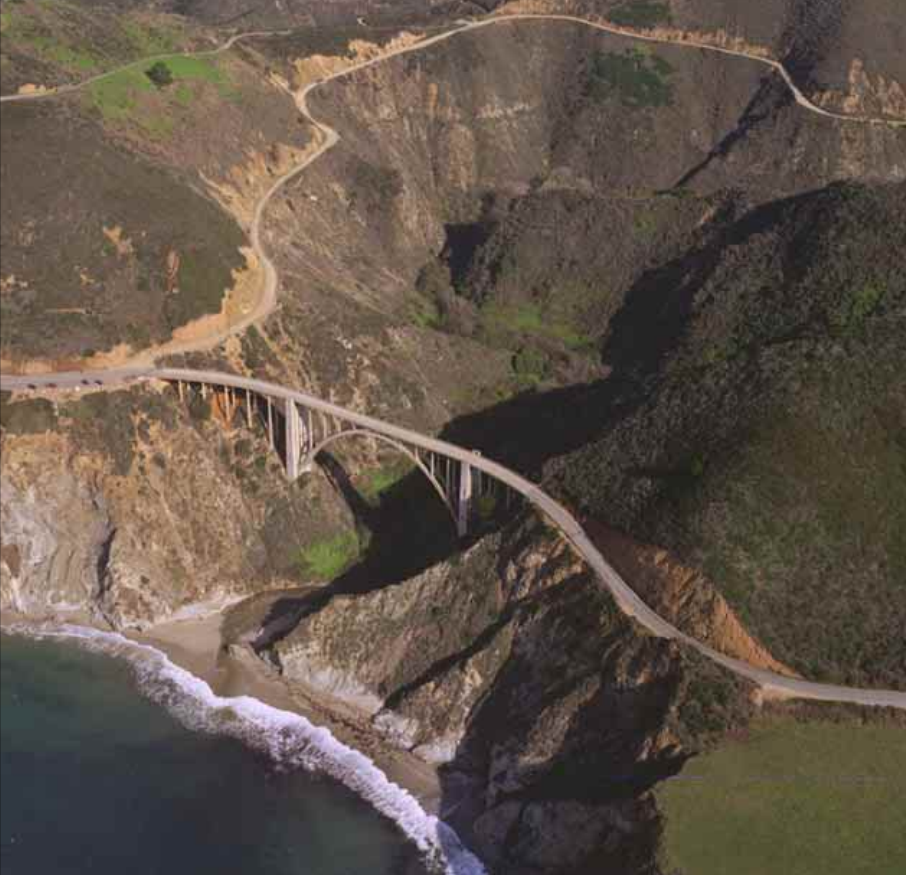 Bixby Creek Bridge aerial view