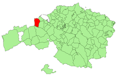 Location o Muskiz in Biscay.