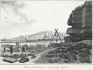 Black marble quarry, near Red Wharf Bay, Anglesea
